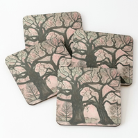 Set of 4 Coasters Featuring The Original Art Of Sally Anne Wake Jones