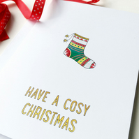 Cosy Christmas charity card