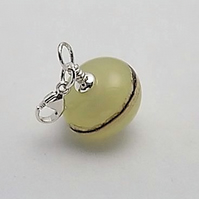Cornsilk elegance charm bead on sterling silver trigger clasp