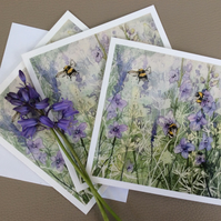 Limited edition printed cards of original watercolour painting pk3