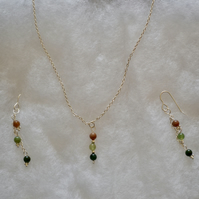 Pendant & Earrings