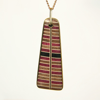 Handmade Wooden Pendant - With Necklace Chain