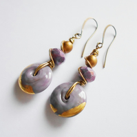 Purple Handmade Drop Earrings