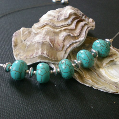 tranquility~turquoise gem necklace