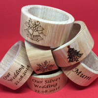 Embellished Napkin Rings for All occasions set of 4 or 6