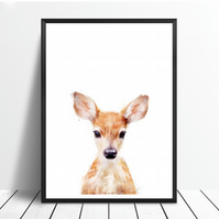 Deer in watercolour - Canvas Print