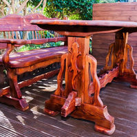 Unique style solid wood garden furniture.