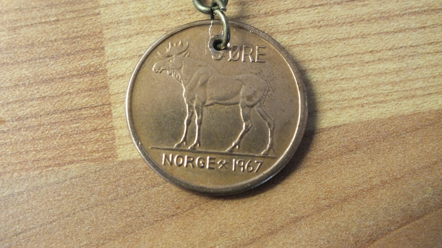 NORWAY or Norge 1967 birthday keyring present