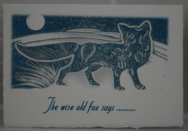 Christmas Card - The wise old fox says
