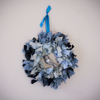 Blue and silver wreath