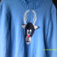 CUTE CHRISTMAS REINDEER JUMPER