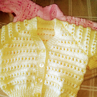 Hand knitted lemon cardigan
