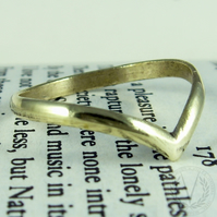 Dazzling Brass Wishbone Ring with FREE Ring Box