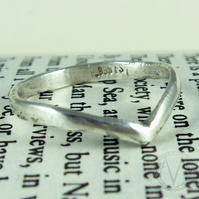 Exquisite .999 Pure Silver Wishbone Ring with FREE Ring Box