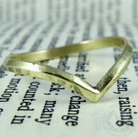 Charming Brass Wishbone Ring with FREE Ring Box