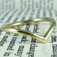 Gorgeous Brass Wishbone Ring with FREE Ring Box