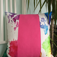 Multicoloured cushion cover