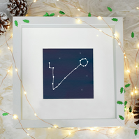 Pisces Star Sign Zodiac Constellation Framed Print