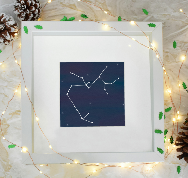 Sagittarius Star Sign Zodiac Constellation Framed Print