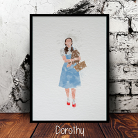 The Wizard of Oz A4 watercolour prints