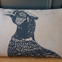 Linen Pheasant cushion