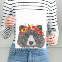 Autumn Bear A4 Print