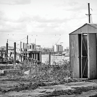 A4 photograph print of urban thames