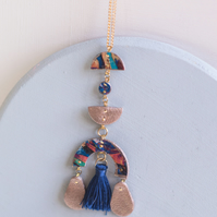 Above Earth Colourful Tassel Drop Necklace