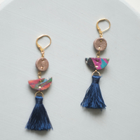Above Earth Colourful Tassel Drop Earrings