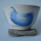 Blue and white wave bowl