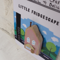 Little pink house - fridge magnet