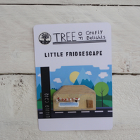 Little cafe - fridge magnet