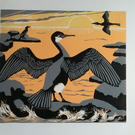 Cormorants at Sunset