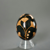 Pysanka with Ginko Motif, After Faberge