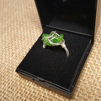 Sterling Silver and Cornish Sea Glass Ring