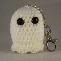 Crochet Ghost Keyring