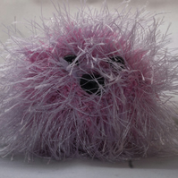 Knitted Monster Pom-Pom Keyring