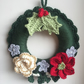 Christmas Crochet Floral Wreath