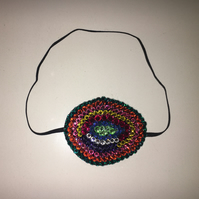 Fancy Rainbow Mix 1 Diamond Crystal Eye Patch