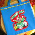 Little Shopping Tote Bag for a Boy or Girl, Jack in the Box Design