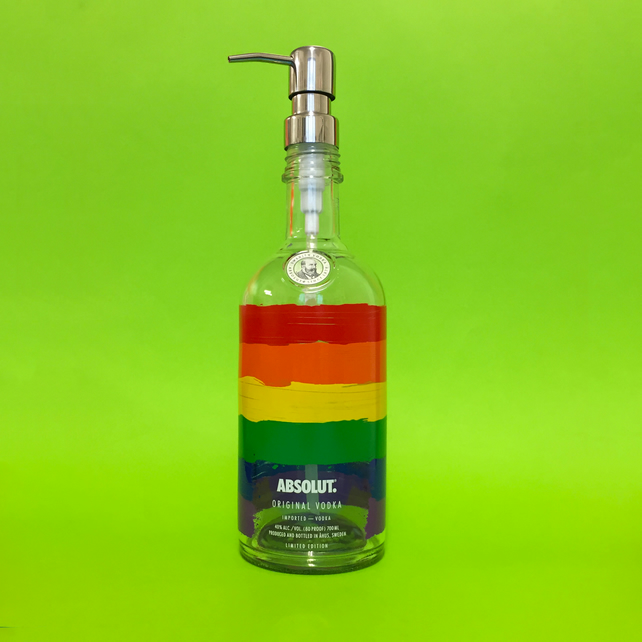 Absolut Vodka Rainbow Flag Dispenser