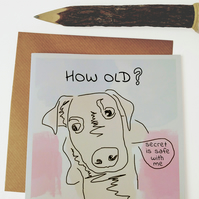 How old dog birthday card