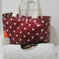 Handmade Large Oilcloth Shopping bag