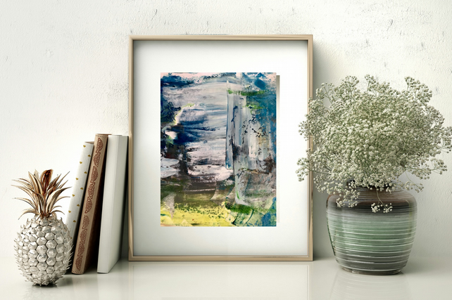 A Digital Print of an Original Abstract Painting of the Seas- Seas Change