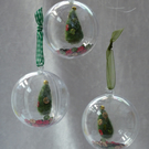 Christmas Tree decorations, set of 3