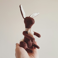 Chocolate Bunny, Soft Sculpture, Yum