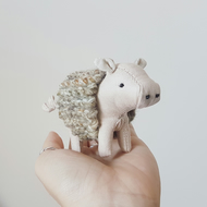Pig in a Blanket, Soft Sculpture, Pinky