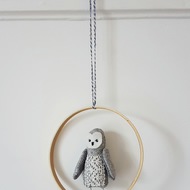 Owl, Soft Sculpture Hanging, Evelyn