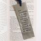 Anne Frank Metal Bookmark
