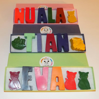Personalised Name wax crayons (up to 6 letters)